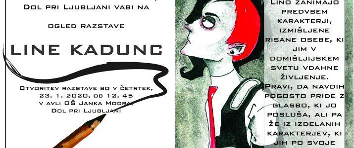 Ogled razstave Line Kadunc